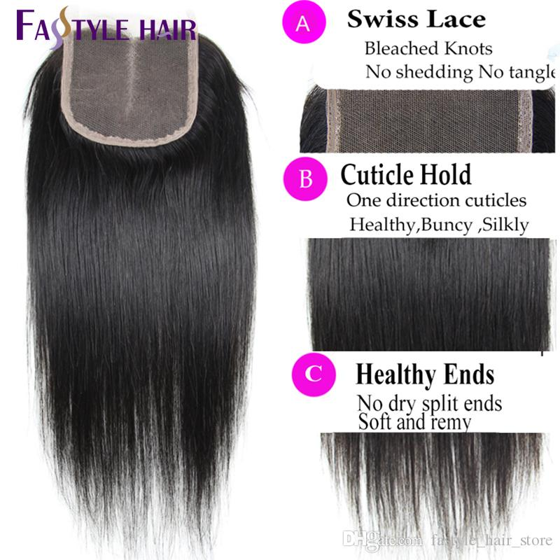 Hot ! Peruvian Straight Extension 4 Bundles With Lace Closure UNPROCESSED Brazilian Malaysian Indian Cambodian Virgin Human Hair Weave Weft