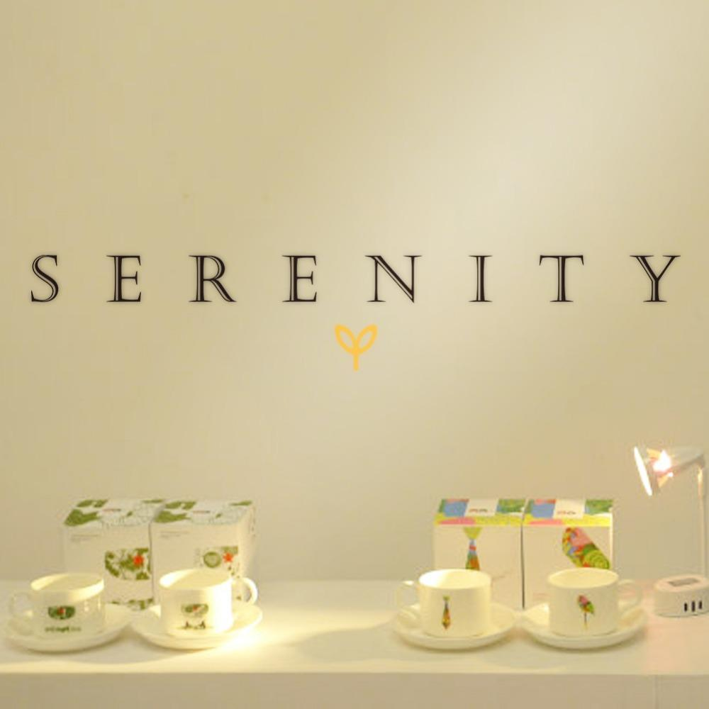 Creative Serenity Quote Wall Decor Living Room Background Vinyl Wall ...