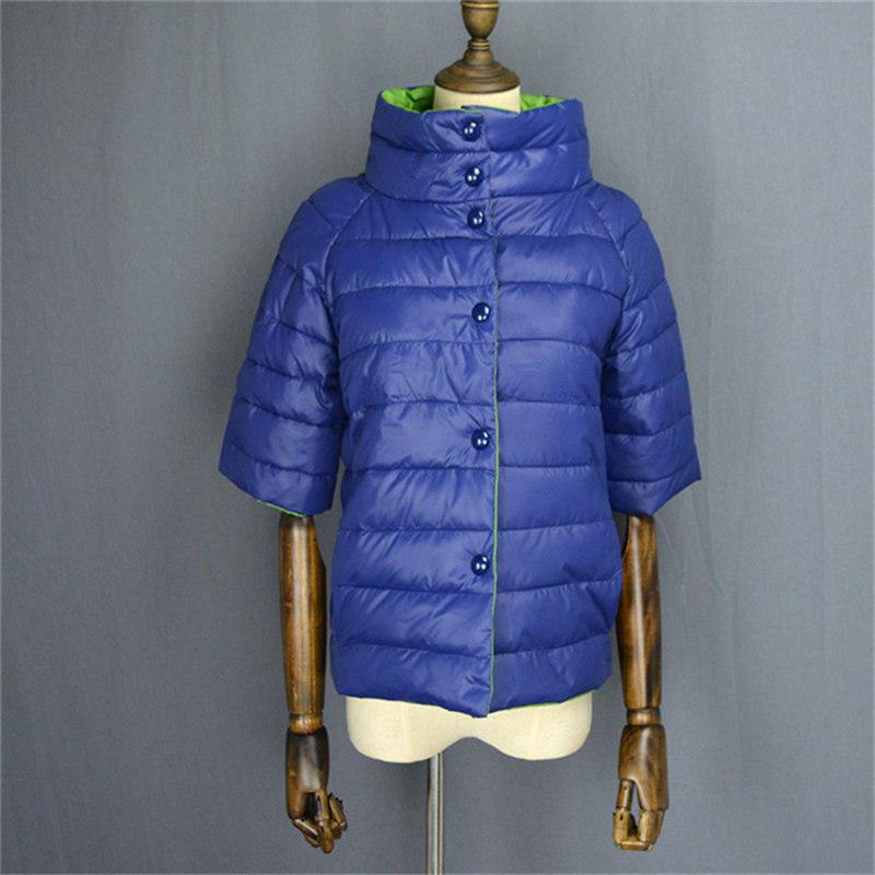 Half sleeve winter jacket for womens