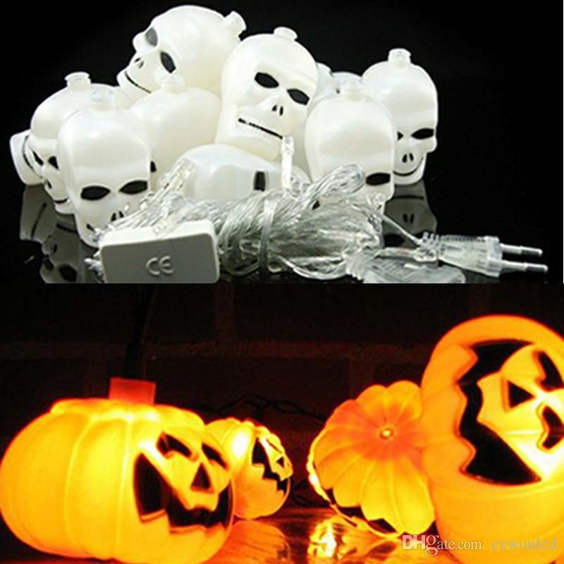 Halloween light 16 led 25m home bar party decoration pumpkin halloween light 16 led 25m home bar party decoration pumpkin colorful led string light fairy lights festival lamp skeleton lantern lamp string of led aloadofball