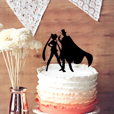 2018 Silhouette Cartoon Characters Cake Decoration, Lady And ...