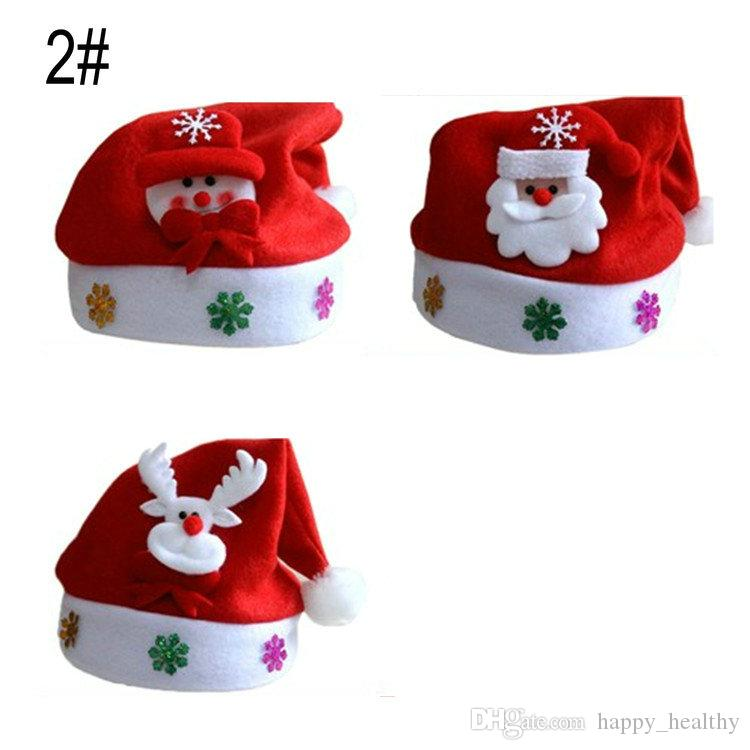 632480d242adf 2017 New Christmas Hat Cosplay Hats Thick Ultra Soft Plush Santa Claus Hat  Cute Adults Christmas Cap Christmas Supplies Toy Christmas Cool Christmas  Toys ...