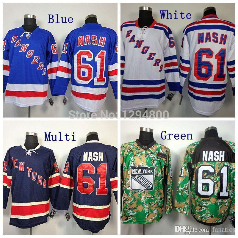 2019 Cheap Mens NY  61 Rick Nash Jersey New York Rangers Hockey Jerseys  85th Home Royal Blue White Camo Rick Nash Jersey M XXXL From Fanatics 008ae7b39