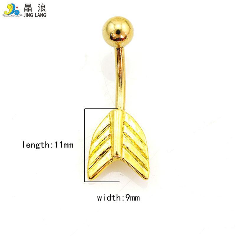 Promoção! Novo Design de Alta Qualidade Moda Golden Arrow Piercing No Umbigo Anéis para As Mulheres Body Piercing Jóias