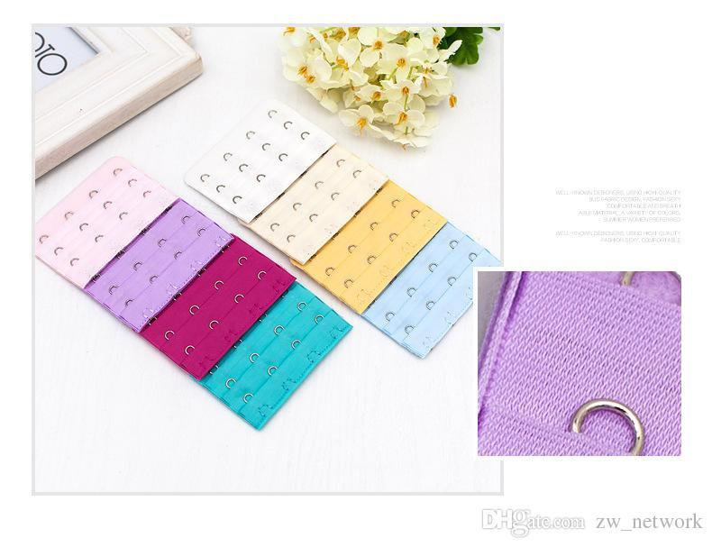 Accessori intimo donna 3 righe 4 ganci bretelle reggiseno in nylon estensioni reggiseno estensore multicolore a scelta