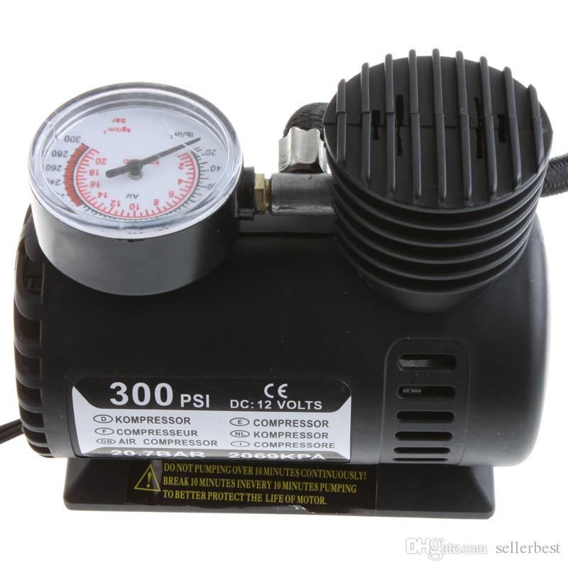 Tragbares Auto / Auto DC 12V elektrischer Luftkompressor / Reifenfüller 300PSI 20.7 BAR 2069 KPA Automobil-Notluftpumpe