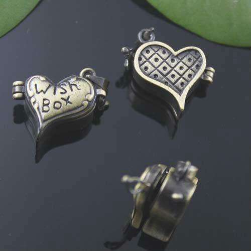 2018 Wish Box 16209mm Heart Shaped Photo Locket Wholesale