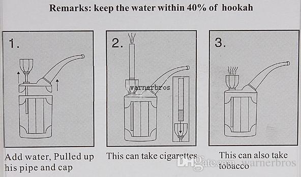 epacket trasporto libero usa buona qualità mini narghilè mini tubo di fumo resina tubo di vetro tubo di acqua araba piccolo shisha narghilè regalo nuovo