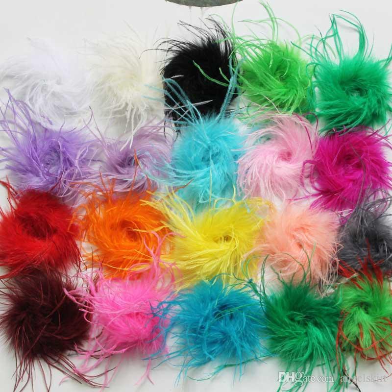 / Mischungsfarben Art und Weise preiswertere Gerade Straußenfeder puff für Haarclips Für Stirnband für Festival Großhandelspreis