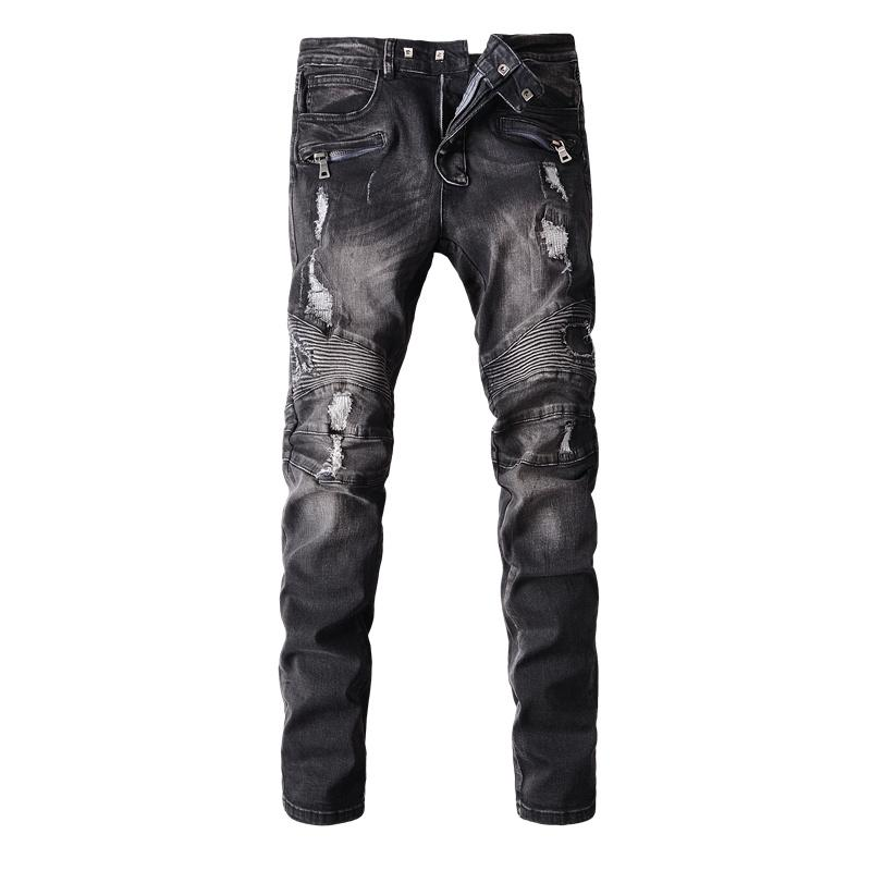 2017 Wholesale Cheap Balmain Jeans Men Skinny Jeans Brown Ripped Vintage  Design Dark Washed Scratches Jeans Branded Biker Jeans High Quality From  Missaqin, ... - 2017 Wholesale Cheap Balmain Jeans Men Skinny Jeans Brown Ripped