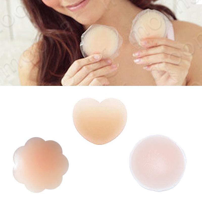 Top populaire Sexy réutilisable en silicone soutien mamelon Cover Patch Breast Pasties Patch auto-adhésif Nipple Patch Nude confortable pour les femmes