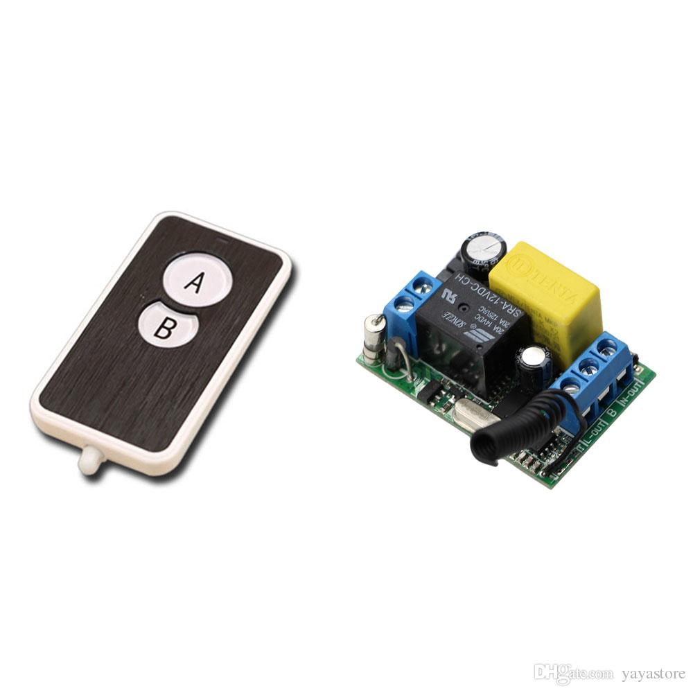 2018 Ac 220v 1ch 10a Wireless Remote Control Switch Remote Light ...