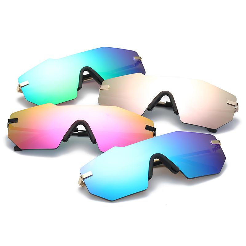 Compre Nuevo Diseño De Lujo Sin Montura Gafas De Sol De Aleación De ...