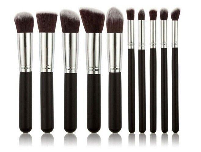 Brochas de maquillaje Kabuki / set Kit de cepillo cosmético profesional Nylon Hair Handle muchos colores para elegir