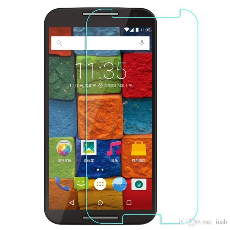 Boa qualidade 9 h 2.5d de vidro temperado para moto g2 g3 e x estilo de jogo x2 protetor de tela à prova de explosão filme para iphone 6 s iphone 6 5s