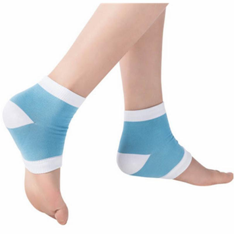 Großhandel 2 Farben Gel Ferse Socken Moisturing Spa Gel Socken Füße ...
