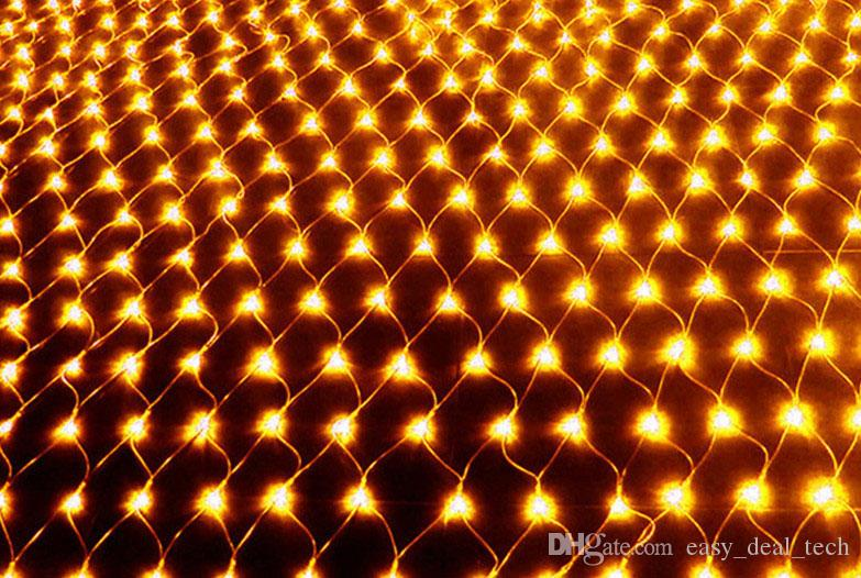 2018 3X2M Fishing Nets LED Christmas Lights 204 LEDS 7 Colours To ...