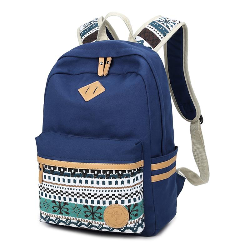 490b7290ce72 Laptop Backpack Women Bag For Teenage Girls School Student Bags Casual  Fashion Women Backpack Canvas Bag