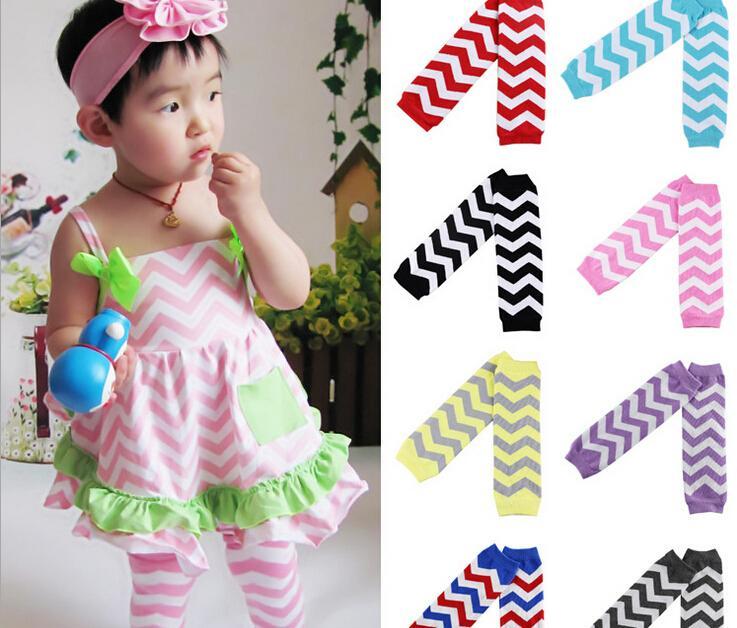Hot Sale Baby Chevron Leg Warmer Baby Leg Warmers infant colorful leg warmer child socks Legging Tights Leg Warmers