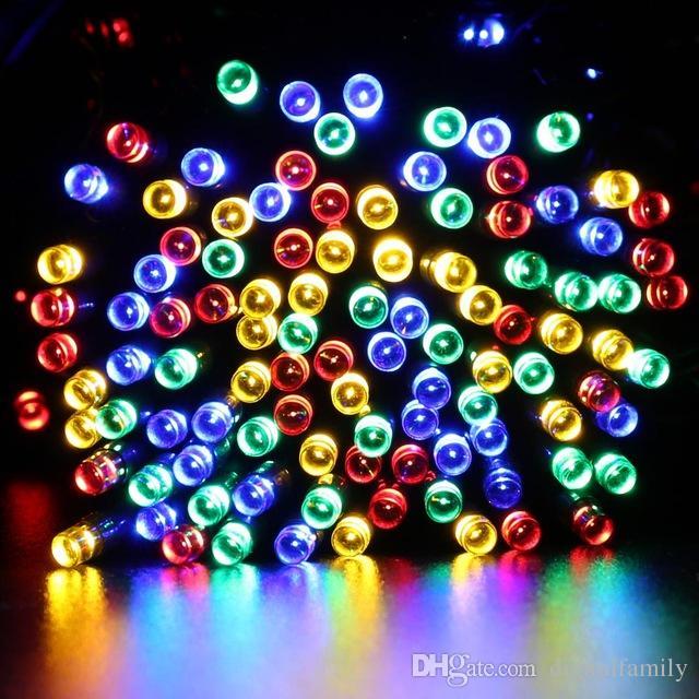 22M 200의 LED 태양 끈 요전 빛은 방수 태양 에너지 8 개의 형식 7M 12M 태양 빛 크리스마스 Halloween 정원 훈장을 위해 점화한다