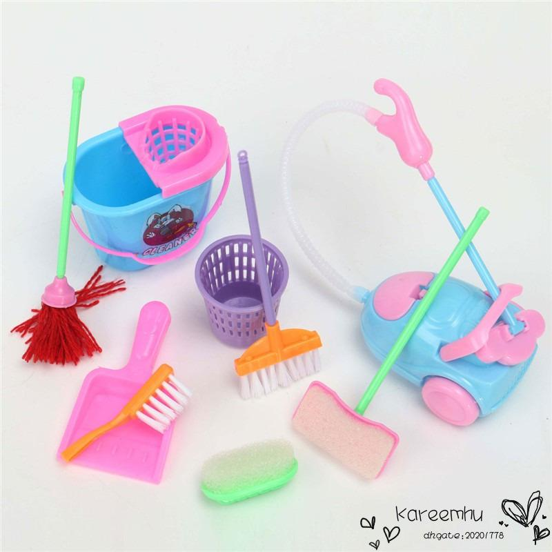 2016 Time Limited Rushed Baby Born Girl House Dolls Furniture Cleaning Kit  Set Home Furnishing Funny Vacuum Cleaner Mop Broom Tools Dolls With  Accessories ...