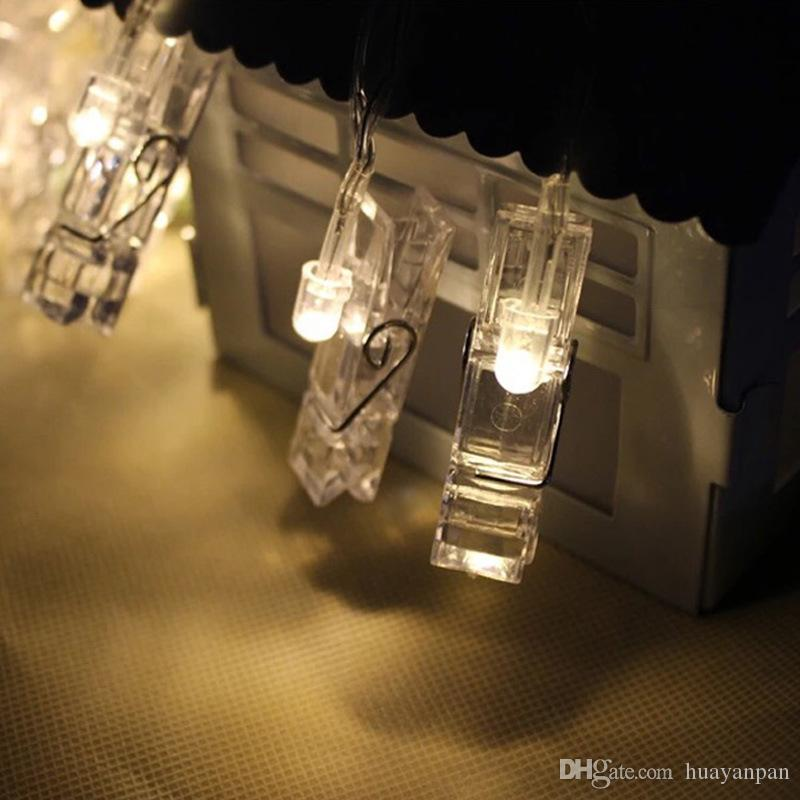1.2M 10Led Christmas lights new year party wedding home decoration clip photo string lights led christmas clip light