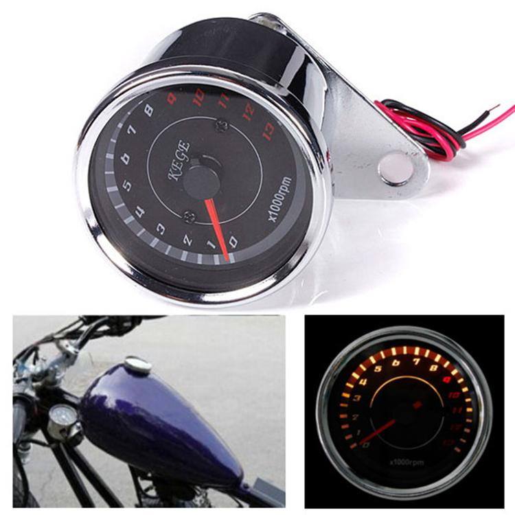 2016 New Design Universal Motorcycle Mortorbike Digital Speedometer Guage Tachometer Odometer Rev Counter 0-13000 RPM AUP_303