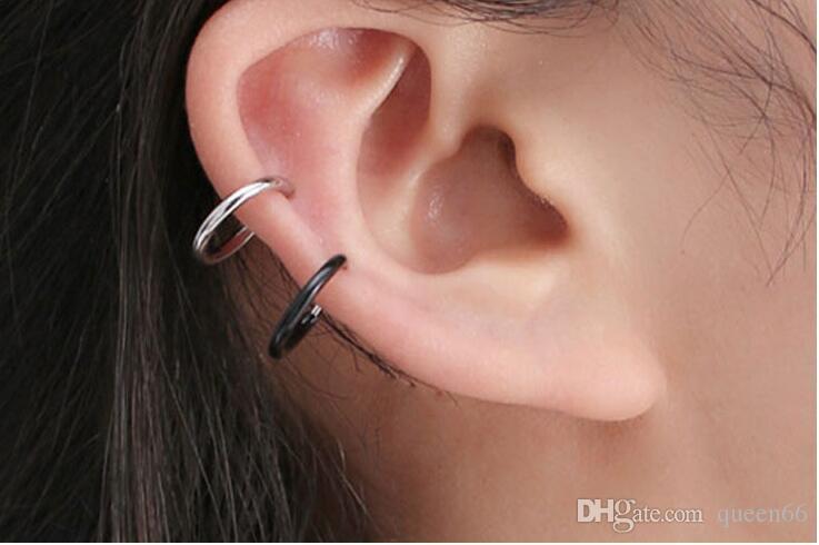 orecchino falso piercing jelwery orecchini finti Minimalista piccolo cerchio singolo Orecchini coreano moda singola clip non forato anello naso