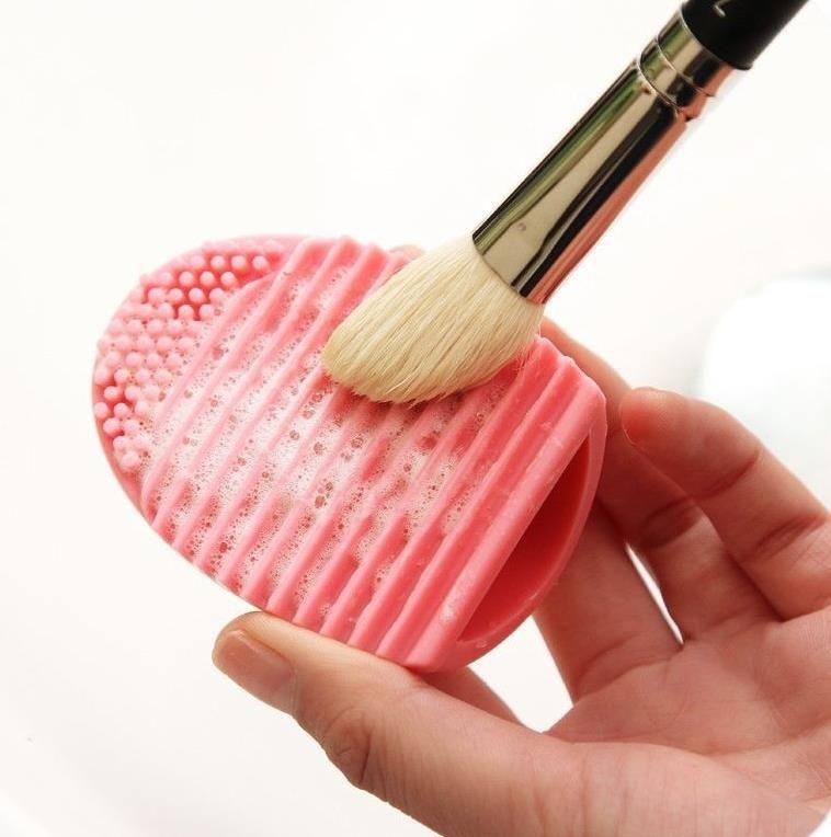 A estrenar Maquillaje Cosmético brushegg Pinceles Limpiador Guante de limpieza Removedor de silicona Lavado de huevos Huevo Scrubber es
