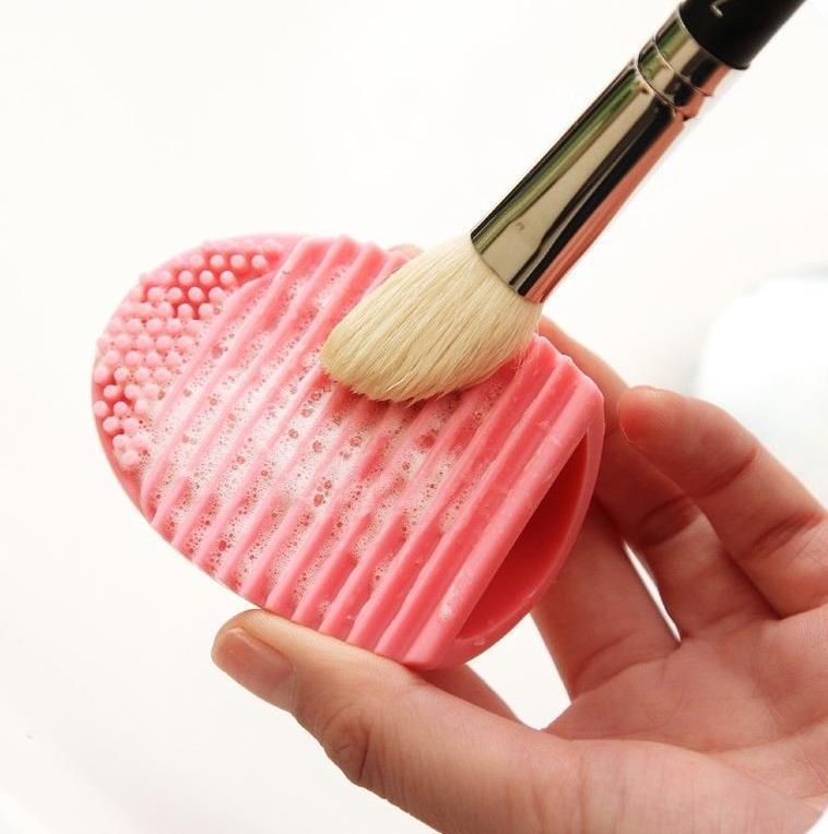 PRO Compõem Brushegg Cosméticos Brushes Cleaner Luva de Limpeza Removedor de Silicone Placa de Lavagem de Ovo Purificador 8 cores presente