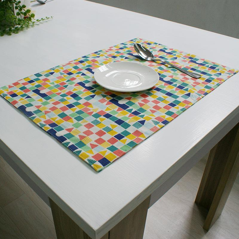 Home Table Decoration Accessories Square Placemats For Table Multi Color  Kitchen Dinning Bowl Eco Friendly Pad Mat 32cm*45cm Blue Paper Napkins  Kitchen ...
