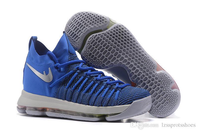 2016 venta caliente KD 9 zapatos de baloncesto para hombre KD9 Oreo lobo gris Kevin Durant 9s de entrenamiento de los hombres zapatillas de deporte de los guerreros Inicio tamaño EE.UU.