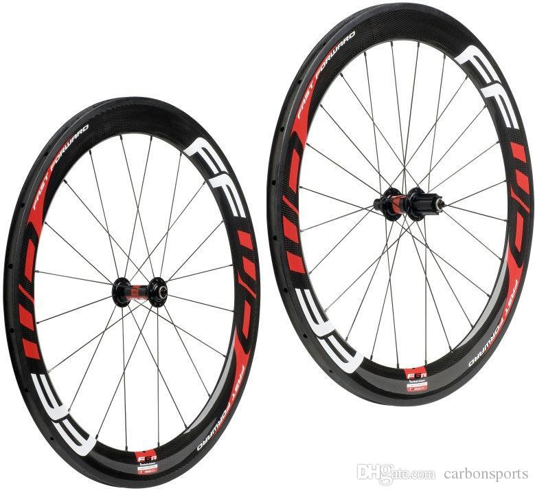 Hot sale FFWD carbon wheels 60mm wheelset straight pull Powerway R36 carbon hubs full carbon road bicycle bike wheels