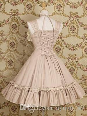 LLT045 Lolita Vestidos Sem Mangas Doce Lolita Vestido Curto vestido de Baile Fantasia Prom Vestido de Festa de Halloween Traje de Máscaras