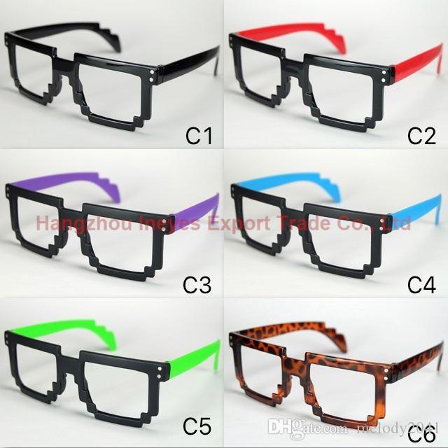 cc889661af6 2017 New Nerd Greek Fashion Toy Eyewear Retro Mosaic Style Glasses ...