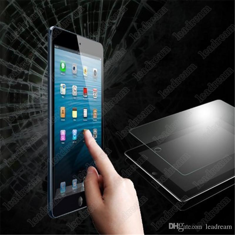 50 UNIDS A Prueba de Explosiones 9H 0.3mm Protector de Pantalla de Vidrio Templado para iPad Mini 1 2 3 4 sin Paquete DHL gratis