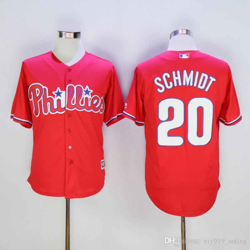 newest 9374a e661a philadelphia phillies 20 mike schmidt red throwback jersey