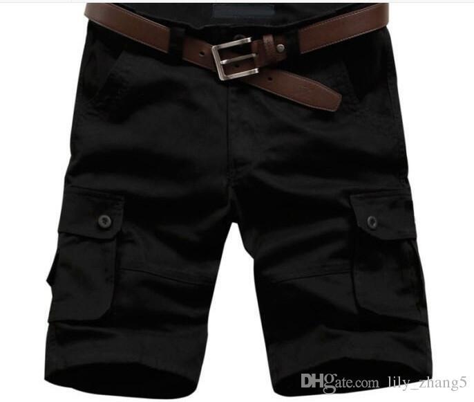 Wholesale-2014 heißer Verkauf Sommer Männer Armee Fracht Arbeit Casual Bermuda Shorts Männer Mode Sport Insgesamt Squad Match Hosen Plus Größe