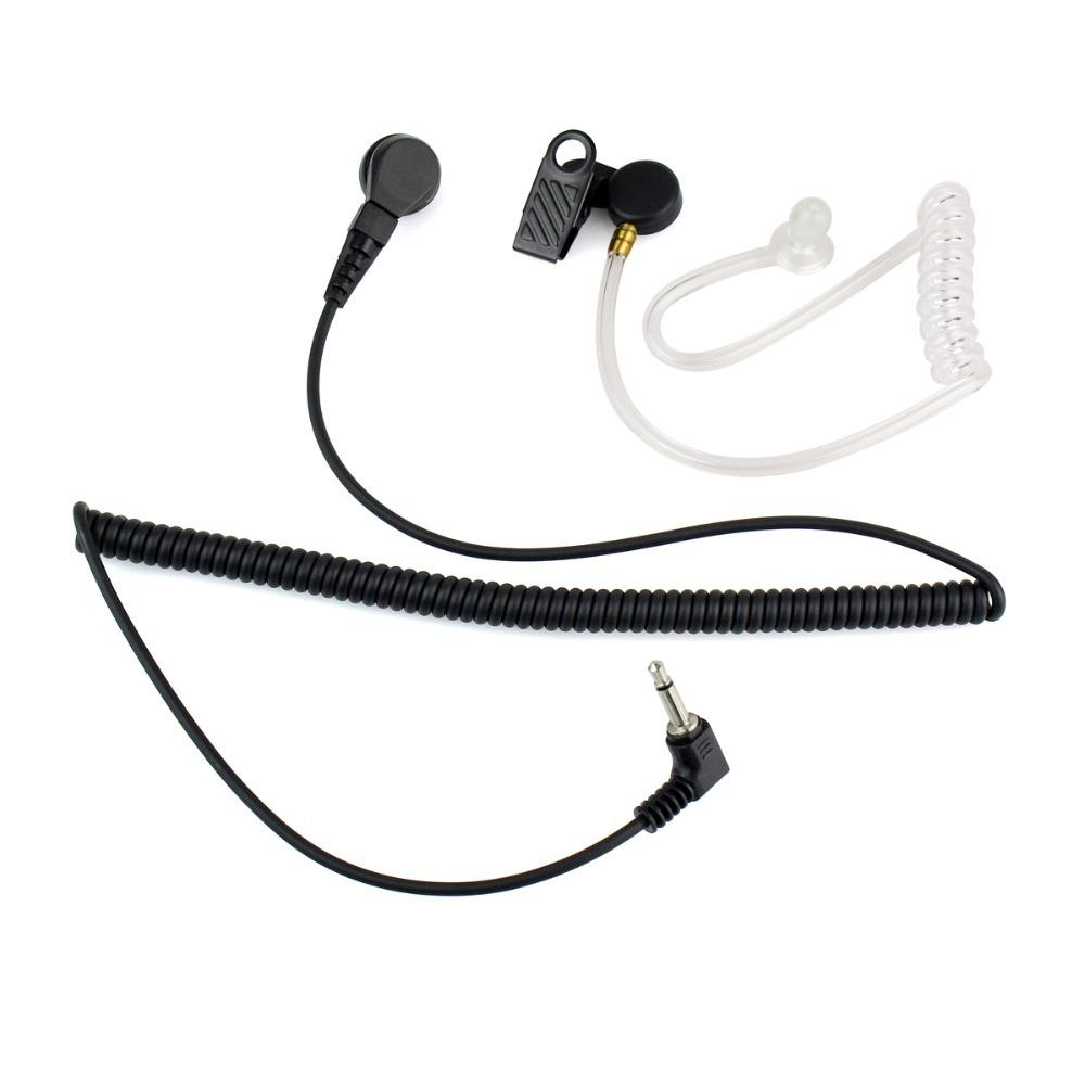 35mm Mono Jack Transparent Flexible Acoustic Tube Earpiece Listen Wiring Only Earphone For Walkie Talkie Radio With Coiled Cord C2140a In Ear Toy