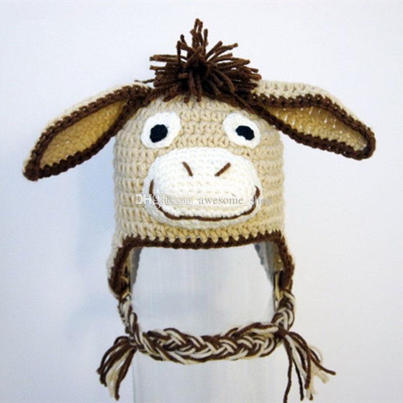 d84c158cdcc 2019 Novelty Donkey Earflap Hat