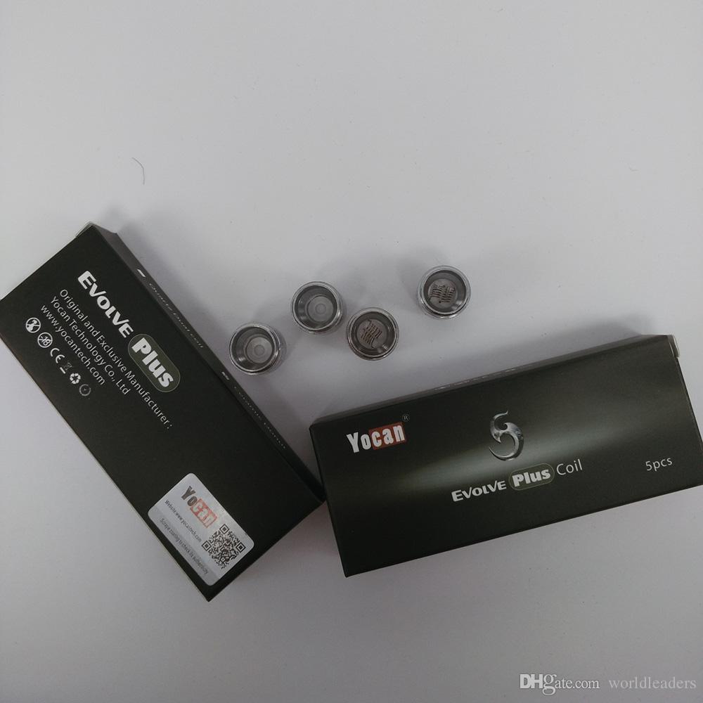 Auténtico Yocan Evolve Plus Tank Ceramic Donut Coils / Cuarzo Dual Coils Reemplazar QDC Coil Head Wax Dry Herb Atomizer