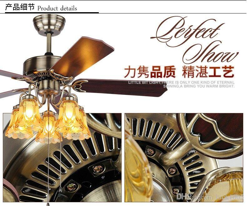 48-inch 52-inch ceiling fan with lights luxurious living room chandelier bedroom restaurant lamp modern ceiling fan DHL