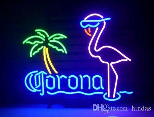 Neon Işık İşareti. Corona IŞIK neon Beer Bar İşaretler Gerçek Cam Neon Işık Bira İşaret 43cm yap imzalamak LED * 35cm
