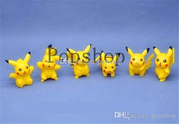 4 cm Pikachu 12 Pçs / set Q Monstro Pikachu figuras de Ação brinquedos clássicos anime boneca de presente de Natal para crianças menina meninos