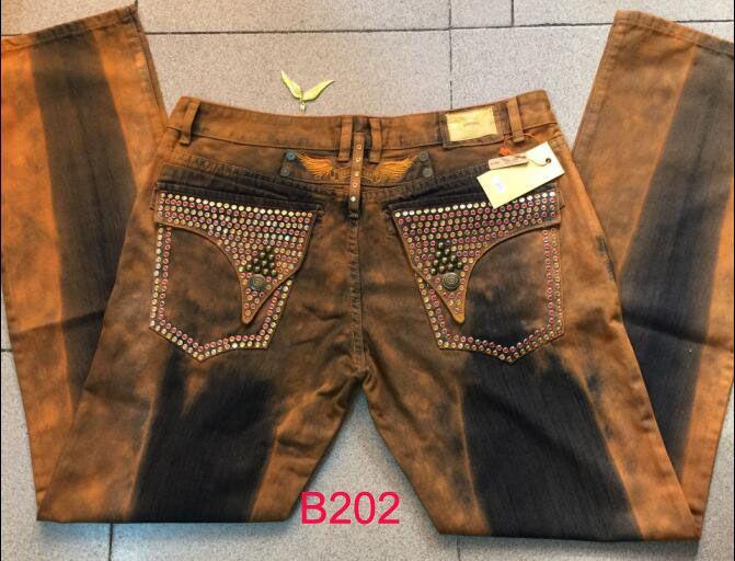 Yeni Mens Robin Kot Kaya Revival Tasarımcı Denim Jean Kristal Çiviler Cepler Biker Pantolon Pantolon ile erkek boyutu 32-42