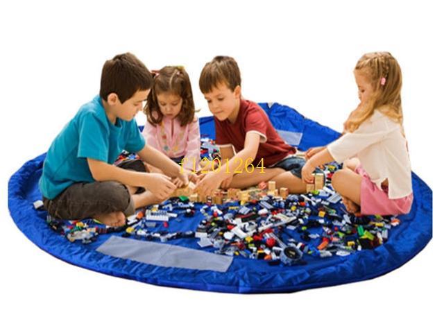 150 adet Fedex Ücretsiz Kargo Taşınabilir Oyun Mat Büyük Oyuncak Saklama Torbaları Organizatör Battaniye Halı Kutuları Oyuncaklar Çoc ...