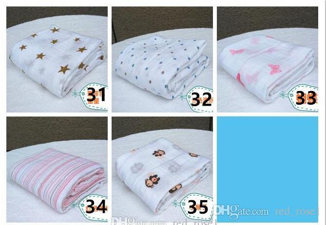35 Style couverture en mousseline aden anais bébé swaddle wrap couverture couverture éponge bébé printemps été bébé couverture pour bébé 120 * 120cm