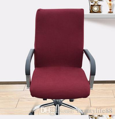 Plain office Computer chair cover side zipper design arm chair cover recouvre chaise super stretch rotating lift chair cover