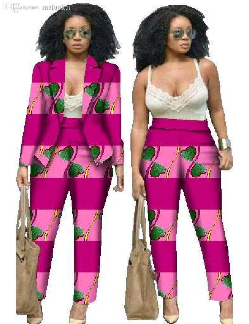2017 Wholesale 2016 Trouser Suit Women Sets African Women Clothing ...