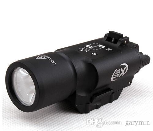 التكتيكية 500 شمعة أدى بندقية مصباح يدوي x300 الفانوسة ضوء الشعلة البيضاء للبندقية الصيد